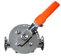 Manual full boa valve with angle adjustment mechanism